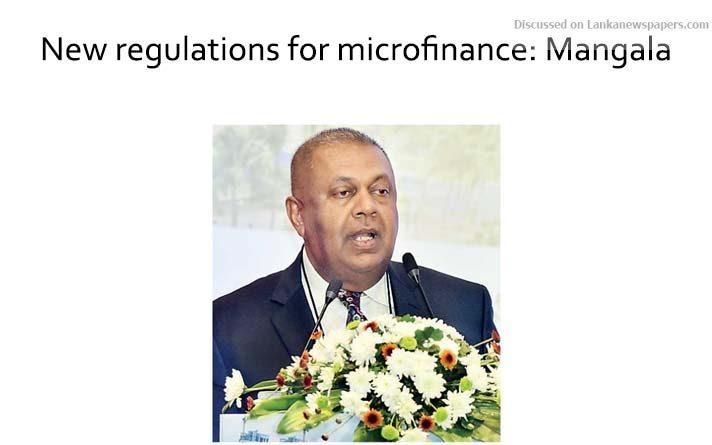 Sri Lanka News for New regulations for microfinance: Mangala