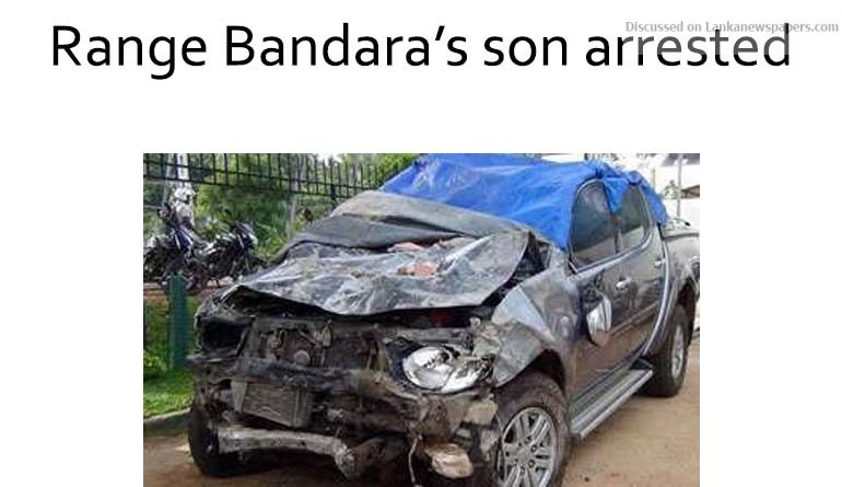 Sri Lanka News for Range Bandara's son arrested