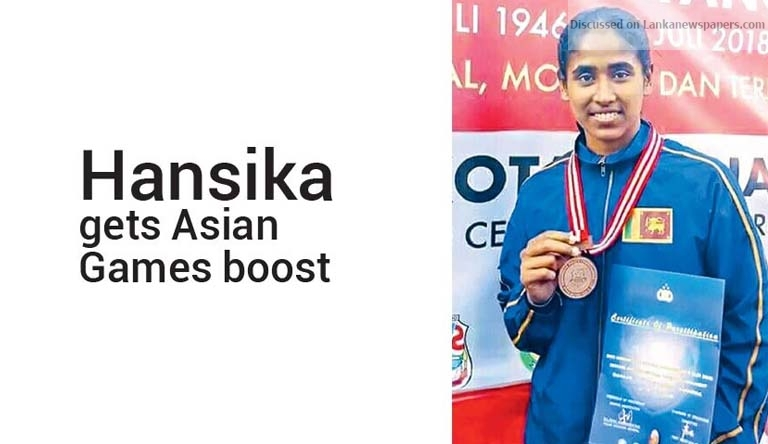 Sri Lanka News for Hansika gets Asian Games boost