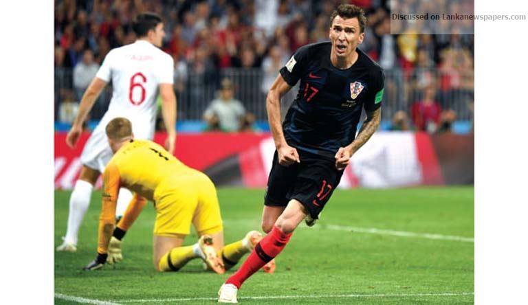 Sri Lanka News for Mandzukic breaks England hearts and fires Croatia into World Cup final