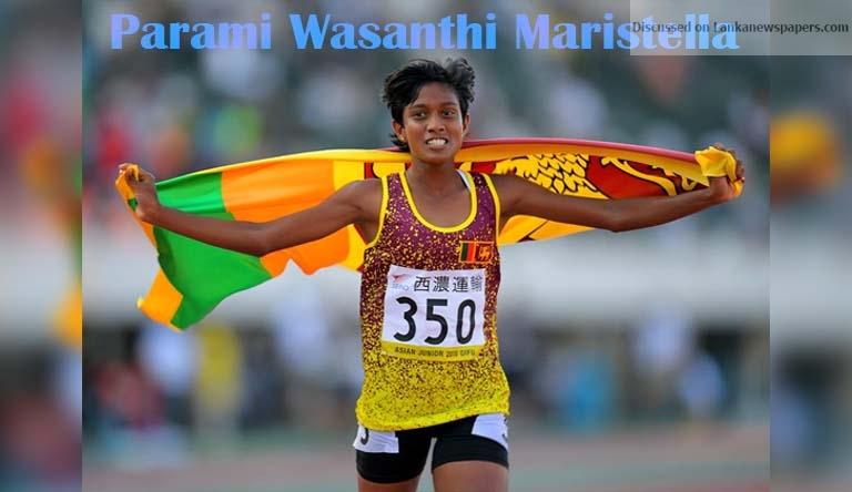 Sri Lanka News for Maristella clocks historic world leading time
