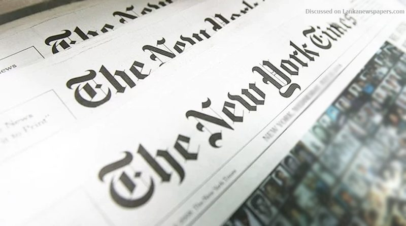 Sri Lanka News for New York Times concerned over threats to Journalists