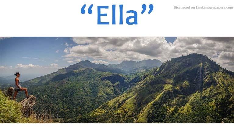 Sri Lanka News for Ella to become a tourist zone