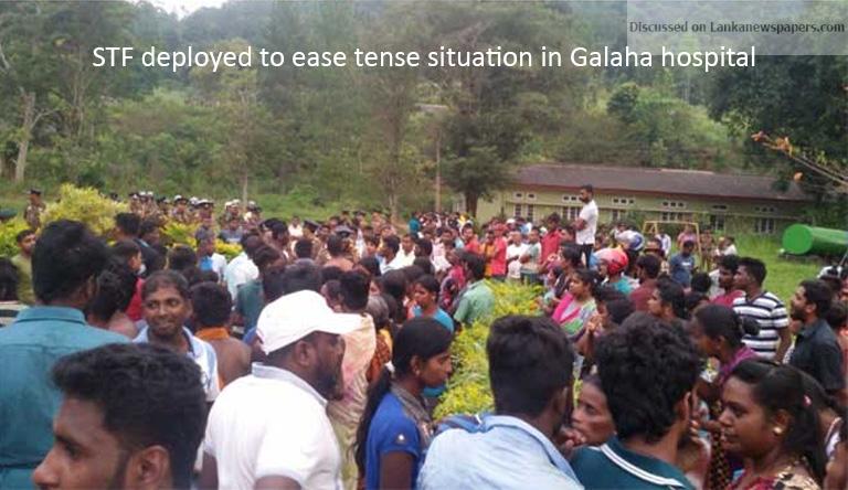 Sri Lanka News for Tense situation at Galaha hospital after infant dies