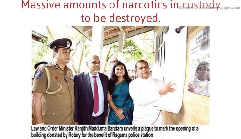 narcos in sri lankan news
