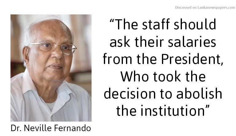 Sri Lanka News for SAITM no more, staff should request salaries from President: Dr. Fernando