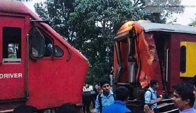 Sri Lanka News for FOUR INTERDICTED AFTER TRAIN MISHAP