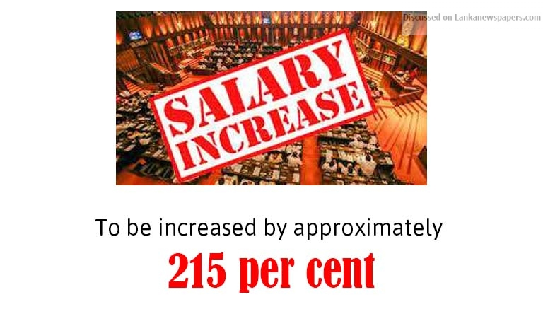 Sri Lanka News for Salaries of ministers likely to be increased?