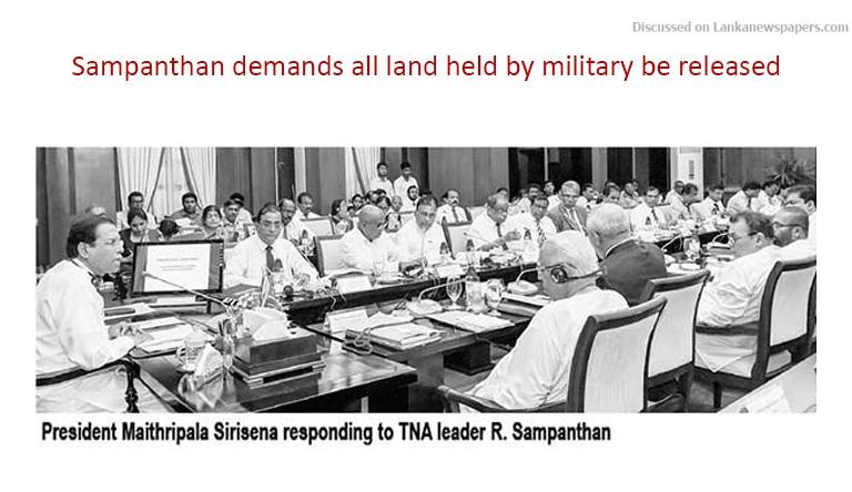 Sri Lanka News for TNA alleges setting up of Weli Oya type new settlements in M'itivu,
