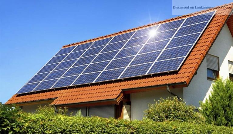 solar powered house in sri lankan news
