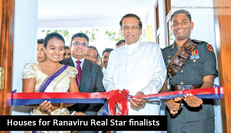 Sri Lanka News for Houses for Ranaviru Real Star finalists