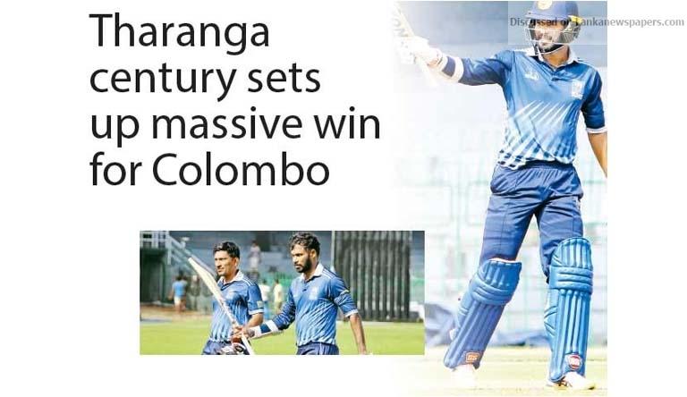 Sri Lanka News for Tharanga century sets up massive win for Colombo
