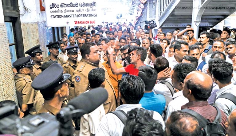 Sri Lanka News for RAILWAY STRIKES AGAIN