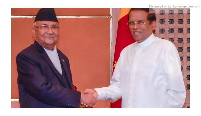 Sri Lanka News for Nepal PM pledges to President to take forward Nepal-Sri Lanka relations closer & stronger