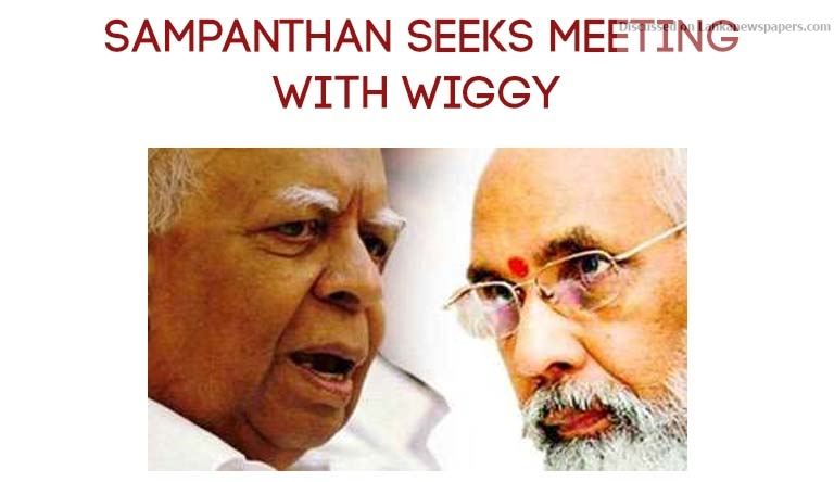 Sri Lanka News for Sampanthan seeks meeting with Wiggy