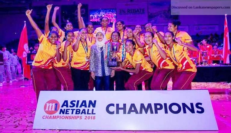 Sri Lanka News for SL win 11th Asian Netball Championship