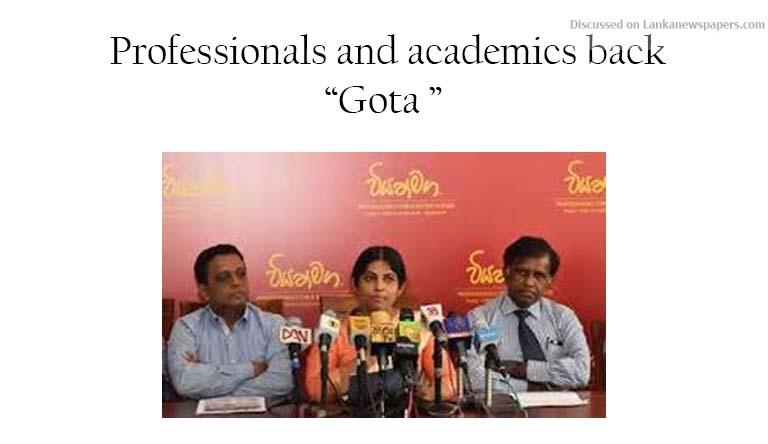Sri Lanka News for Professionals and academics back Gota