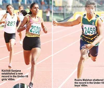 Sri Lanka News for Kavindi, Dulen, Rusiru shatter 400 metres barriers All Island Schools Games- Athletics Championship
