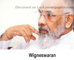Sri Lanka News for Wiggy wants TNA vote tied to release of LTTE suspects in custody Budget 2019