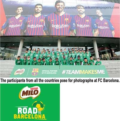 Sri Lanka News for Milo sends six young football players to Barcelona