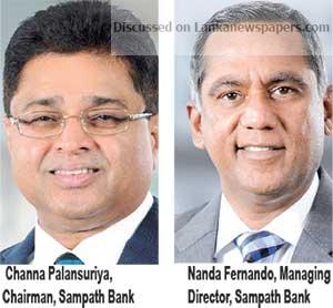 Sri Lanka News for Sampath Bank surpasses Rs.14 billion mark in Pre-Tax Profit