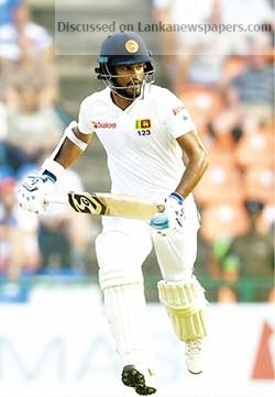 Sri Lanka News for Sri Lanka look to Dimuth after last wicket pair bail out England