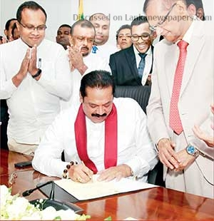 Sri Lanka News for Prime Minister Mahinda Rajapaksa assuming duties as the Finance and Economic Affairs Minister at the Finance Ministry