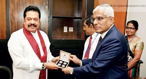 Sri Lanka News for New coin series presented to MR