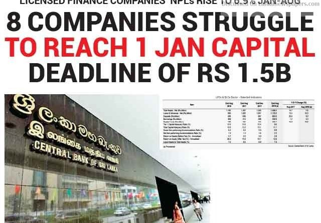 Sri Lanka News for 8 companies struggle to reach 1 Jan capital deadline of Rs 1.5B