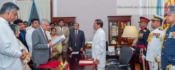 Sri Lanka News for RW sworn in as PM