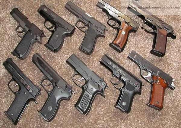 Assorted 9mm Parabellum Pistols in sri lankan news