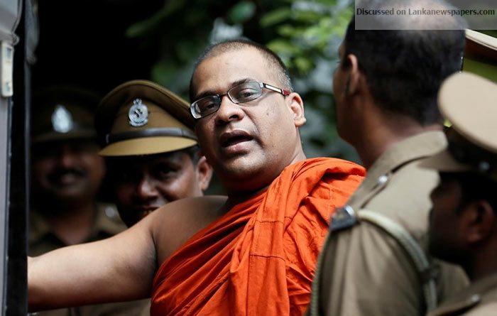 Sri Lanka News for Threatening Eknaligoda: Gnanasara Thera's sentence suspended