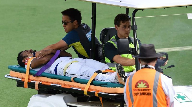 Sri Lanka News for Karunaratne stretchered off as Sri Lanka chase big Australia total