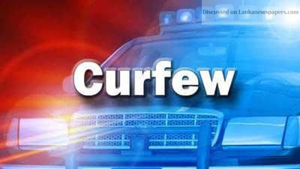 Sri Lanka News for 12-hour curfew around the country