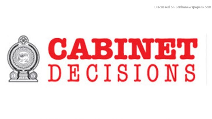 Sri Lanka News for Cabinet Decisions