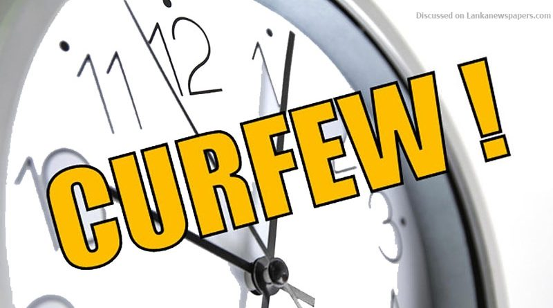 curfew times in sri lankan news