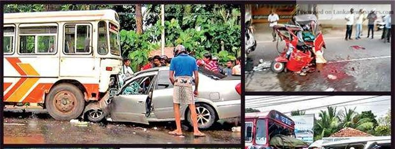 Sri Lanka News for Fourteen road deaths in one day