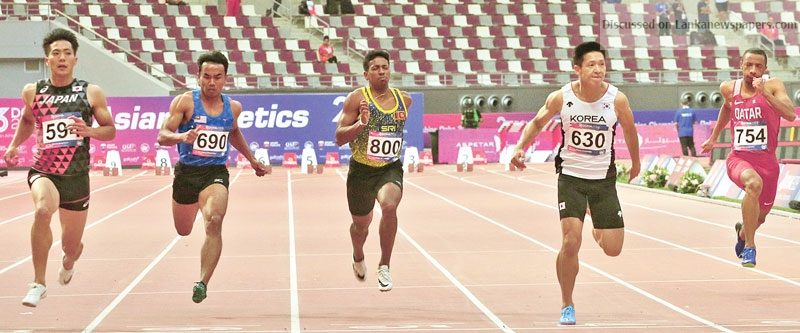 Sri Lanka News for Asian Athletics Championship in Doha Lankan medal hopes dashed