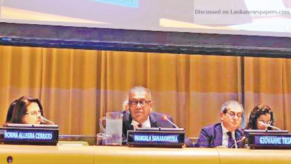 Sri Lanka News for FM shares Lanka's growth experience at UN ECOSOC