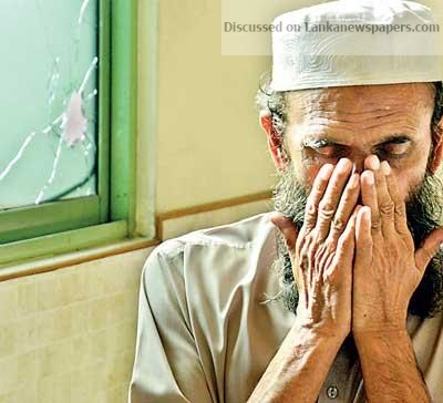 Sri Lanka News for A Muslim devotee prays inside the Minuwangoda Jumma Mosque