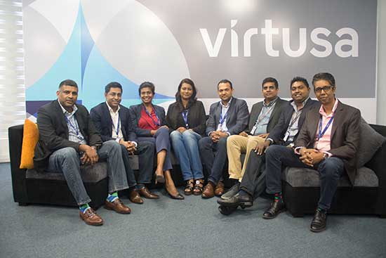 Some members of the local Sri Lanka leadership team of Virtusa in sri lankan news