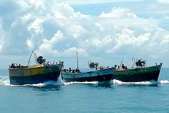1620145359 11 Indian fishing vessels attempting to enter Lankan waters intercepted G 1 in sri lankan news