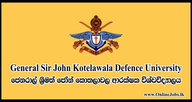 General Sir John Kotelawala Defence University 2 1 in sri lankan news